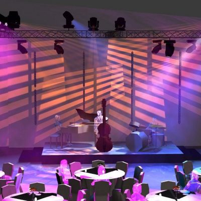 Corporate Event in the Tent- Stage Light. Made for Brähler ICS Konferenztechnik.