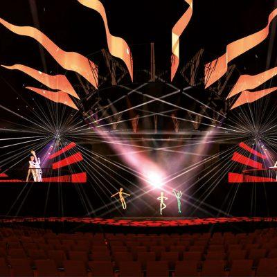 "Vintage Tent- Stage Lighting. Master Project for ""Hochschüle Wismar""."