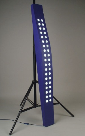 """Polka dot lamp"" Colored metal, plexiglas. 1300x180x150 mm. 2002"